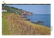 Fundy Bay Coastline Near Cliffs Of Cape D'or-ns Carry-all Pouch
