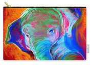 Funky Baby Elephant Blue Carry-all Pouch