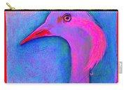 Funky Demoiselle Crane Bird Art Prints Carry-all Pouch