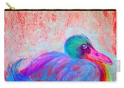 Funky Duck In Snowfall Carry-all Pouch