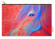 Funky Handsome Horse Blue Carry-all Pouch