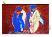 Funky Rockhopper Penguins Carry-all Pouch