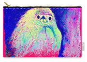 Funky Snowy Egret Bird Art Prints Carry-all Pouch