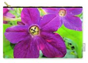 Funny Flower Faces Carry-all Pouch