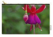 Fuschia Flower Carry-all Pouch by Ron White