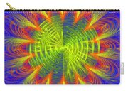 Futuristic Disc Blue Red And Yellow Fractal Flame Carry-all Pouch
