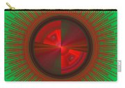 Futuristic Green And Red Tech Disc Fractal Flame Carry-all Pouch