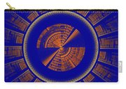 Futuristic Tech Disc Blue And Orange Fractal Flame Carry-all Pouch