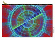 Futuristic Tech Disc Red And Blue Fractal Flame Carry-all Pouch