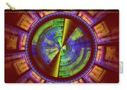Futuristic Tech Disc Red Green And Yellow Fractal Flame Carry-all Pouch
