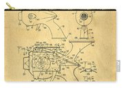 Futuristic Toy Gun Weapon Patent Carry-all Pouch