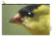 Fuzzy Gold Finch Carry-all Pouch