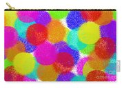 Fuzzy Polka Dots Carry-all Pouch by Andee Design
