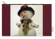 Fuzzy The Snowman Carry-all Pouch