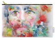 Fyodor Dostoyevsky - Watercolor Portrait.4 Carry-all Pouch