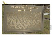 Ga-005-28 Cemetery Square Carry-all Pouch
