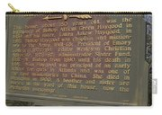 Ga-108-2 Birthplace Of Bishop A. G. Haygood And Miss Laura A. Haygood Carry-all Pouch