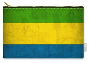 Gabon Flag Vintage Distressed Finish Carry-all Pouch