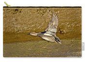 Gadwall Drake In Flight Carry-all Pouch
