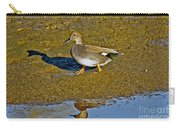 Gadwall Drake On Mudflat Carry-all Pouch