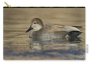 Gadwall On Icy Pond Carry-all Pouch