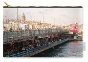 Galata Skyline And Bridge 02 Carry-all Pouch