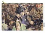 Gallant Piper Leading The Charge Carry-all Pouch by Cyrus Cuneo