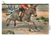 Galloping Donkey At The Beach Carry-all Pouch