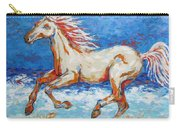 Galloping Horse On Beach Carry-all Pouch