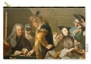Gamblers In The Foyer Carry-all Pouch by Johann Heinrich Tischbein