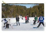 Game Of Ice Hockey On A Frozen Pond  Carry-all Pouch