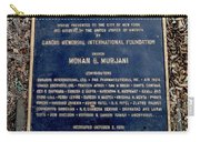 Gandhi Plaque Carry-all Pouch