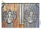 Ganesh Door Plating At The Yoga Maya Hindu Temple In New Delhi India Carry-all Pouch