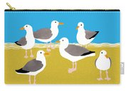 Gang Of Gulls On The Beach Carry-all Pouch