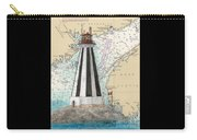 Gannet Rock Lighthouse New Brunswick Canada Nautical Chart Art Carry-all Pouch