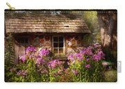 Garden - Belvidere Nj - My Little Cottage Carry-all Pouch by Mike Savad