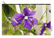 Garden Clematis Carry-all Pouch