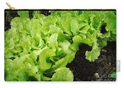 Garden Fresh Baby Lettuce And Lady Bug Carry-all Pouch