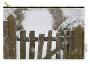 Garden Gate In Snow Carry-all Pouch