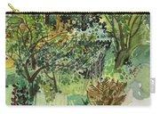 Garden In Llandielo, 1999 Watercolour On Paper Carry-all Pouch