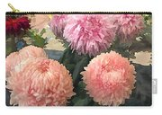 Garden Of Mixed Pink Chrysanthemums Carry-all Pouch