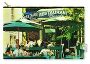 Garden Party Celebrations Under The Cool Green Umbrellas Of Restaurant Chase Cafe Art Scene Carry-all Pouch