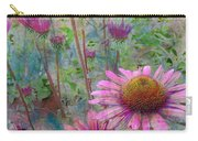 Garden Pink And Abstract Painting Carry-all Pouch
