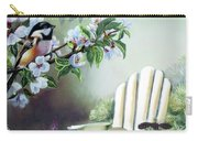Chickadees In Blossom Tree Carry-all Pouch