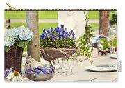 Garden Wedding Table Setting Carry-all Pouch
