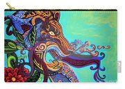 Gargoyle Lion 3 Carry-all Pouch by Genevieve Esson