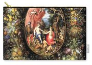 Garland Of Fruit And Flowers Carry-all Pouch