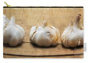 Garlic On Old Barrel Board Carry-all Pouch