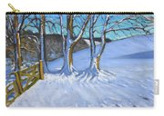Gate And Trees Winter Dam Lane Derbyshire Carry-all Pouch