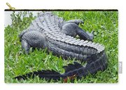 Gator In The Grass Carry-all Pouch